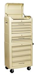 Sealey AP28COMBO2 - Retro Style Topchest, Mid-Box & Rollcab Combination 10 Drawer Cream