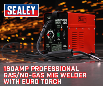 Sealey MIGHTYMIG190 - Professional Gas/No-Gas MIG Welder 190Amp with Euro Torch